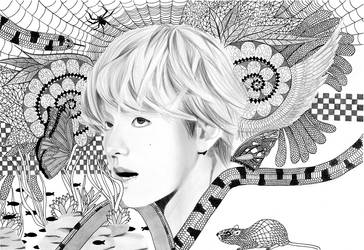 Maze - BTS Taehyung V by MarzyArt