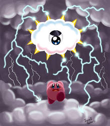 Commission: Run, Kirby, run by IvynaJSpyder