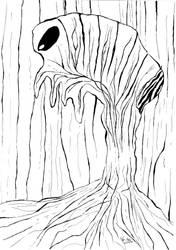 Tree monster by Gordjia