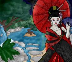 Geisha -colored- by grimzee