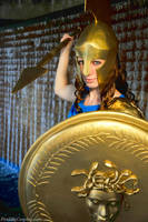 Athena at Arms - 35K Views by FireLilyCosplay