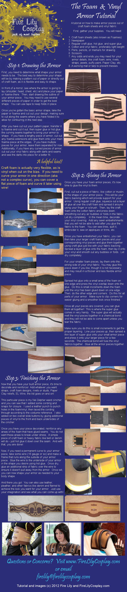 Vinyl and Craft Foam Armor Tutorial by FireLilyCosplay