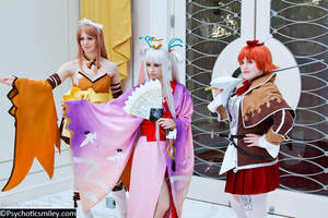 Shining Wind - Kureha, Houmei, Seena by FireLilyCosplay