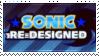 Sonic Re-Designed (Fan-Game) Stamp by Nemopolymer