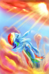 Rainbow Dash: Through the Clouds - BEST PONY by Rariedash