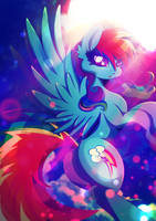 Rainbow Dash - Into the night by Rariedash