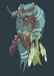 Queen Chrysalis - Swamp Queen by Rariedash