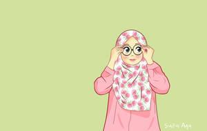 Flower Hijab Cute by ayusufaah