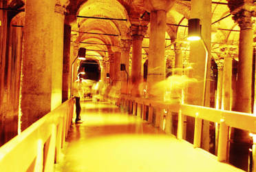 Ghost at the Basilica Cistern by hollystone