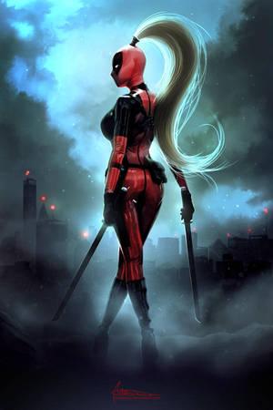 Deadpool lady by Mabiruna