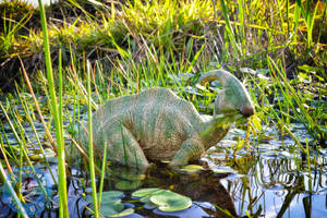 Parasaurolophus in a swamp by X-Alex