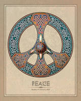 Knotwork Peace Sign by BWS