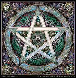 Silver Knotwork Pentacle by BWS
