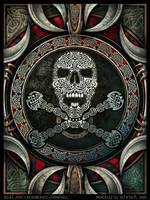 Skull and Crossbones Mandala by BWS