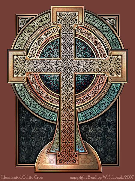 Illuminated Celtic Cross by BWS