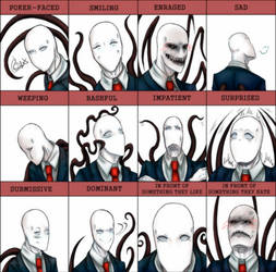 Expressions Meme: Slenderman (Done Seriously) by TenebraLux