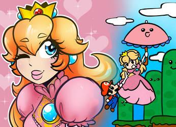 peach Poster by LenaFluffeena