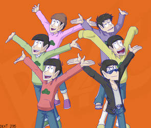 Osomatsu-san Group Shot by Dext