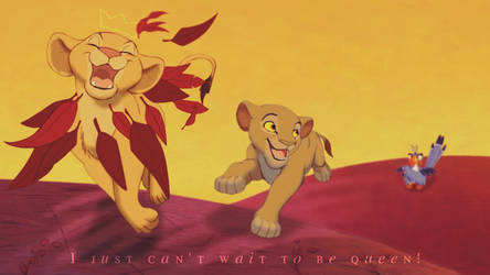Nala and Sarabi ~ I just can't wait to be queen! by Yaseii