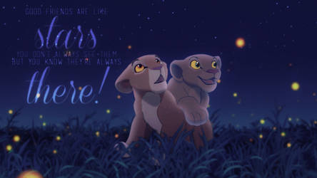 Nala and Sarabi ~ Under The Stars by Yaseii