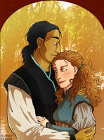 Numair and Daine by lauramw