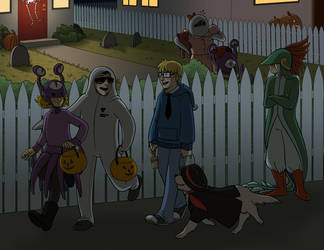 Halloween in Twoson by lauramw