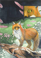 Watercolor Fox by Xeroxed-Animus