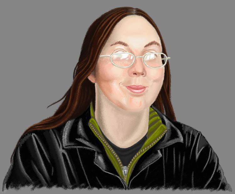Self Portrait - Pastel by Xeroxed-Animus