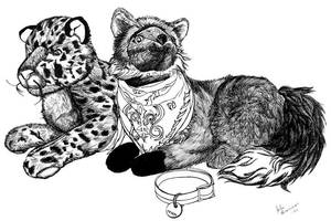 Animal Plushie Still Life by Xeroxed-Animus