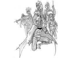 Bat Family by bredenius