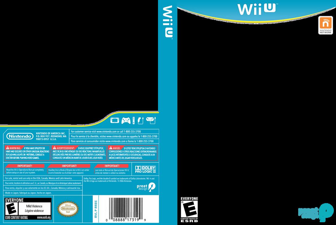 Wii U Box Art Template By Preetard On Deviantart