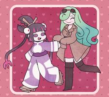 [AT] Mari and Shizuka by BonbonBox