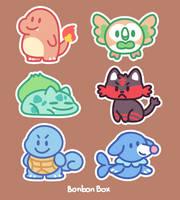 Pokemon Stickers by BonbonBox