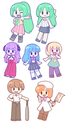 Higurashi Sticker Set by BonbonBox