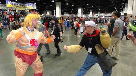 Denver Comic Con 2018 Day 3: Popeye Vs. He-Man by Mr-Herp-Derp
