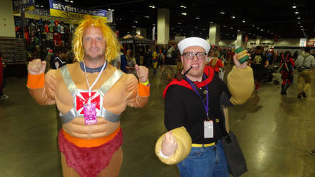 Denver comic con 2018 Day 3: Popeye and He-Man by Mr-Herp-Derp