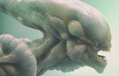 Alien Xenomorph Cinema 4D Arnold Render by botshow