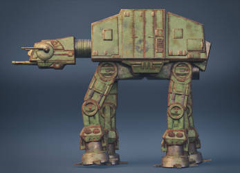 Star Wars AT-AT WW2 Style C4D SP Arnold by botshow