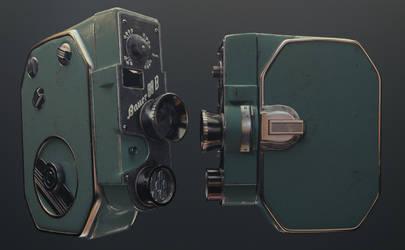 Bauer 88B 8mm Movie Camera Cinema 4D Redshift by botshow