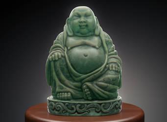 Jade Buddha Cinema 4D Redshift Substance Painter by botshow