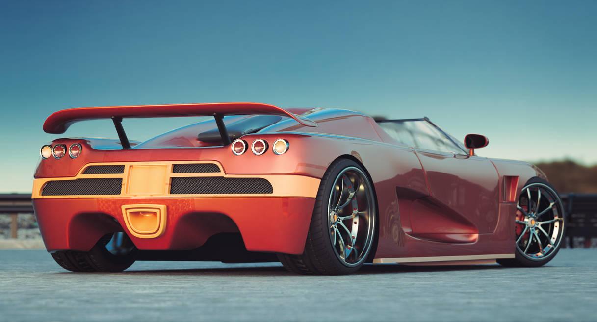 Koenigsegg ccx Cinema 4D Corona Renderer by botshow
