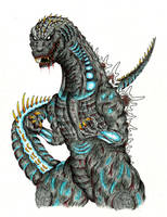 Shin GMK Godzilla by skullghidorah2016