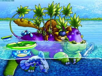 Collab: Hippopapyrus.Wallatree by Jimistie