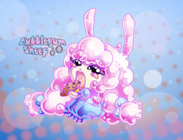 Bubblegum Sheep nom nom by ChosenVowels