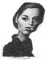 WOMAN WITH CIGARETTE by sebastianmartino