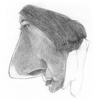 nosed girl by sebastianmartino