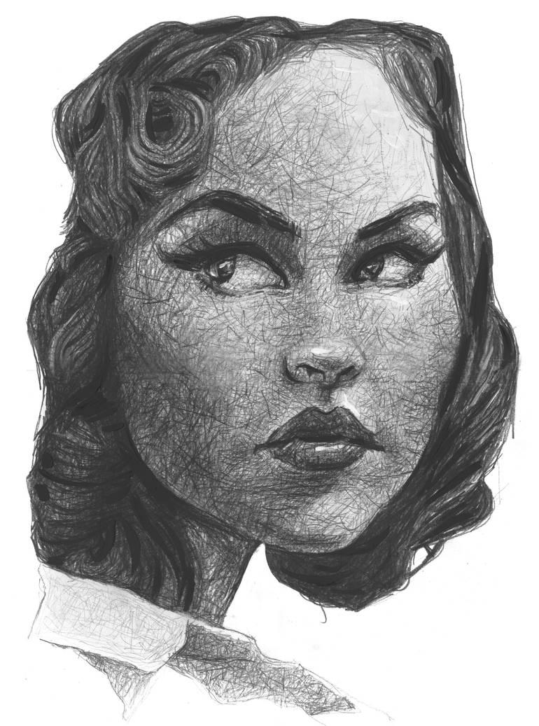 study expression woman by sebastianmartino