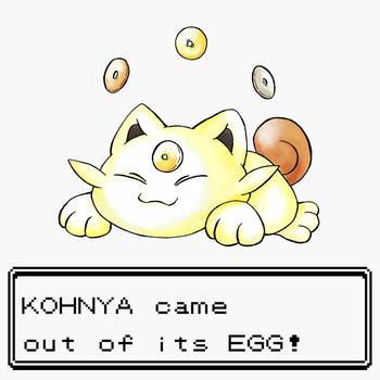 Baby Meowth KOHNYA! by MPaolillo