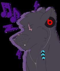 Rune Listening To Music by rakausthewolf