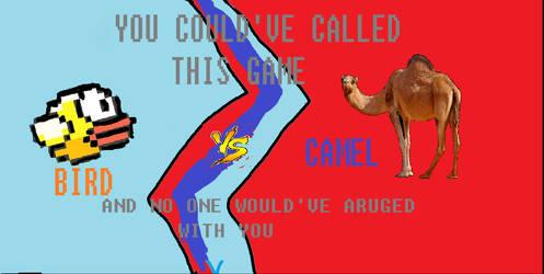 Bird vs Camel by NopeToster